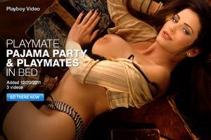 pajama nudes playmate Playboy party